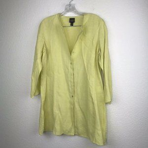Eileen Fisher Blouse Tunic Top Button Up SZ PM Lim